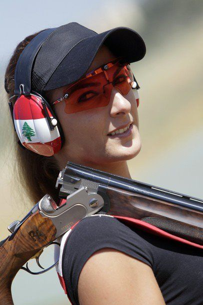 fb.com/WeAreLebanon Lebanese Trap Champion Ray Bassil trains for the 2012 Summer Olympic Games in London at a shooting club in Ghadras north of Beirut on July 13, 2012. AFP PHOTO/JOSEPH EID (Photo credit should read JOSEPH EID/AFP/GettyImages) 2012 AFP
