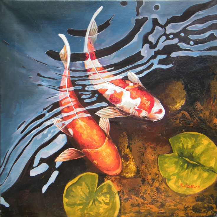 64 best koi images on pinterest pisces animales and fish for Koi fish art paintings