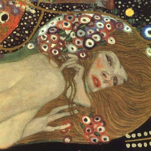 klimt painting | gustav klimt sea serpents iii (detail) painting-82397