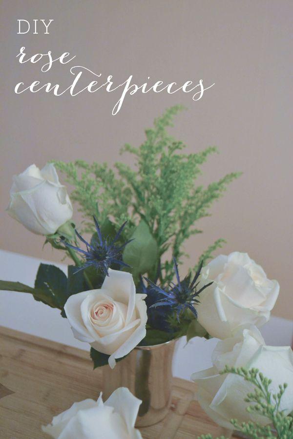 Easy Rose Centerpiece : Best images about diy centerpieces on pinterest