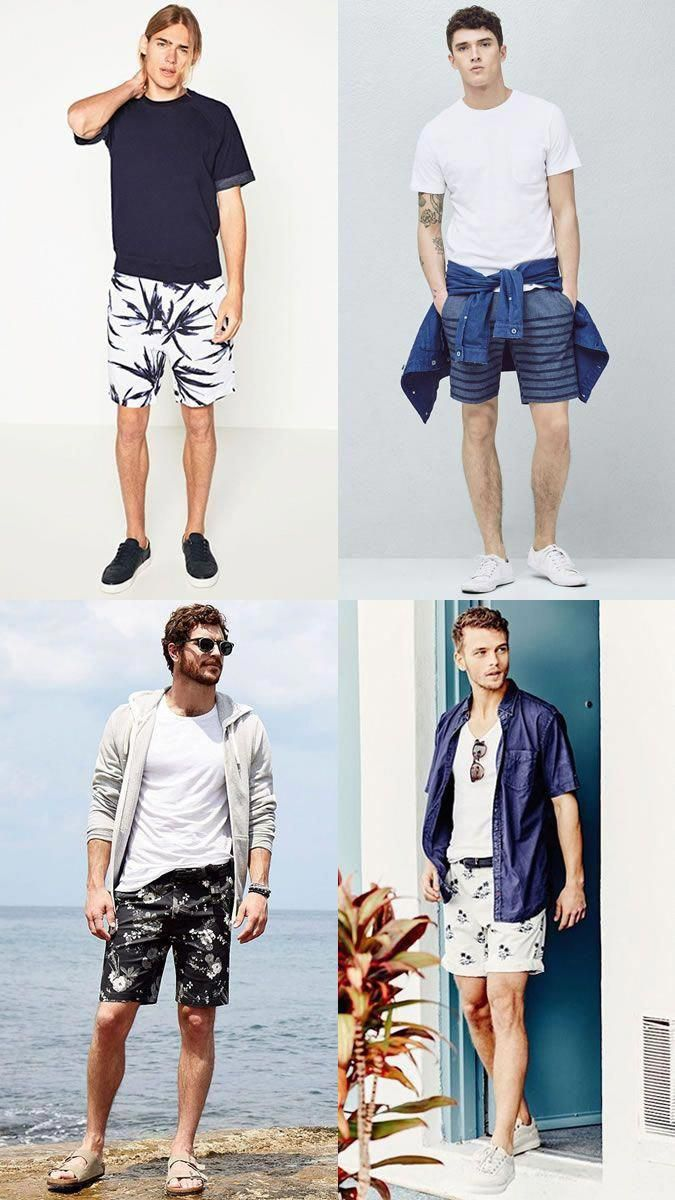 ac1c0d6768e6 Men s Plain T-shirts with Printed Shorts - Summer Fashion Style Outfit  Inspiration Lookbook  mensfashionsummer  MensT-shirts