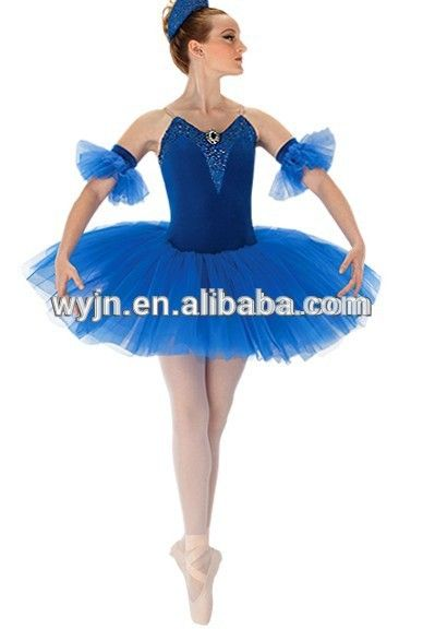 Nieuwste professionele tutu 2015, ballet jurk, wit en blauw koningin kostuum