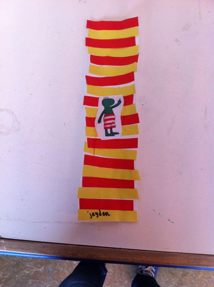 Thema kikker in de kou ; sjaal van reeksen ; groep 1 ; juf Renate