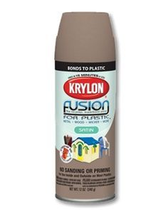 Fusion for Plastic® The revolutionary No-Prep, Superbond Paint for Plastic® now makes painting plastic possible. No sanding or priming required Bonds easily to most plastics, PVC, resin and more Fast dry; fully chip-resistant after 7 days Features EZ Touch 360°® Dial Spray Tip - See more at: http://www.krylon.com/products/fusion-for-plastic/#sthash.gIaoYvxm.dpuf