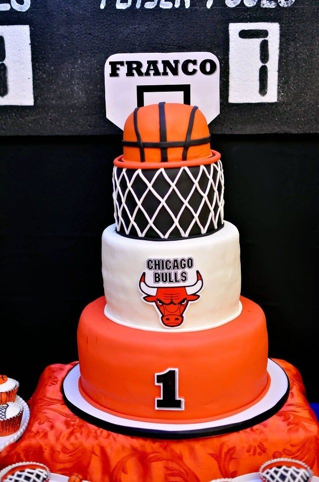 Marvelous Francos Basketball Themed Party 1St Birthday With Images Funny Birthday Cards Online Benoljebrpdamsfinfo