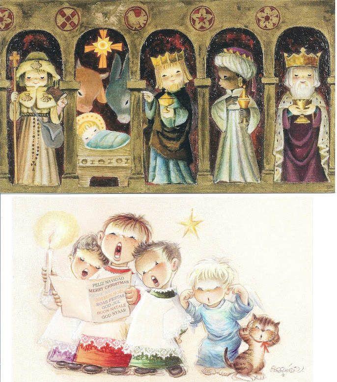 postales navidad vendimia Ferrándiz