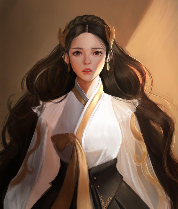 girl, Koo bong on ArtStation at https://www.artstation.com/artwork/DEKDG