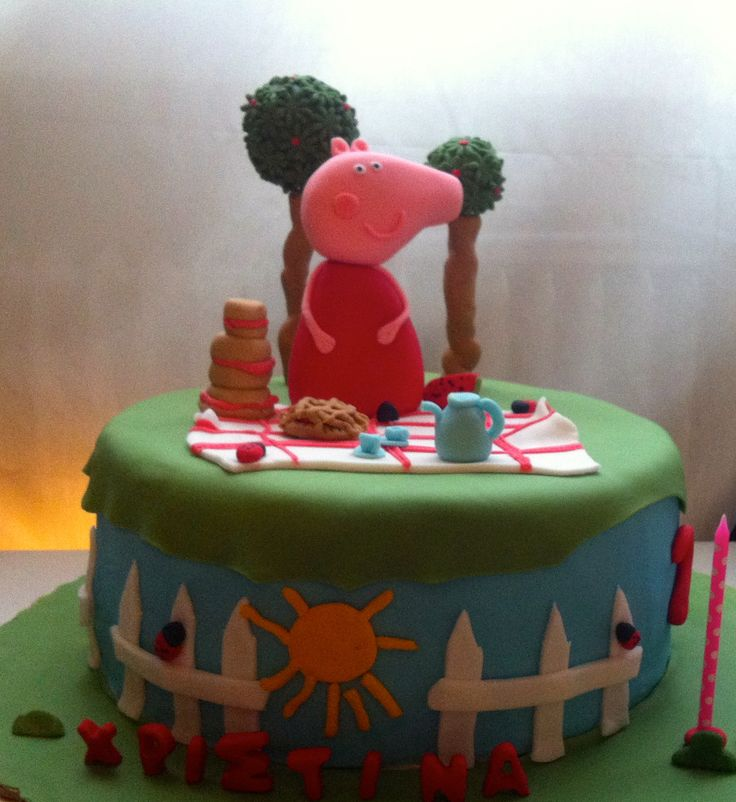 Peppa the pig cake