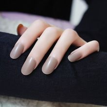 Rose red metal matte French unghie finte bride 3D fake full cover press on false nails decorated unhas faux ongles acrylic tips(China (Mainland))
