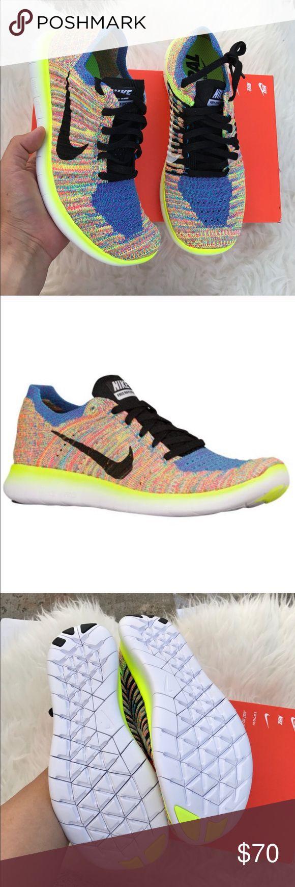 Nike womens free rn flyknit shoes sz 85 new nwt