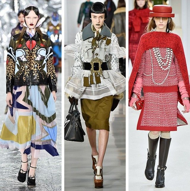 AW16 Fashion Trends on the catwalk at Mary Katrantzou, Maison Margiela and…