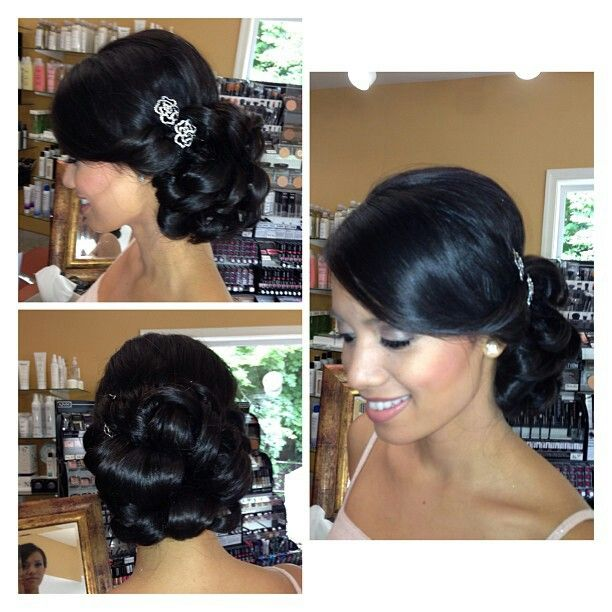 Sensational Pin Curl Updo Pin Curls And Updo On Pinterest Hairstyles For Women Draintrainus