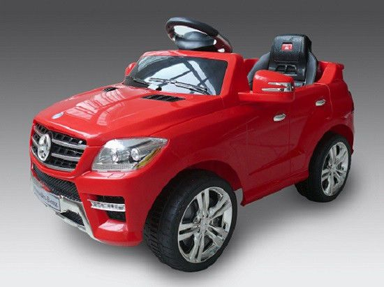 mercedes benz ml 350 red ride on kid toy car 6v w remote control music