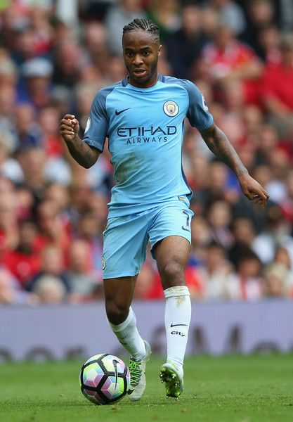 Raheem Sterling of Manchester City during the Premier League match between…