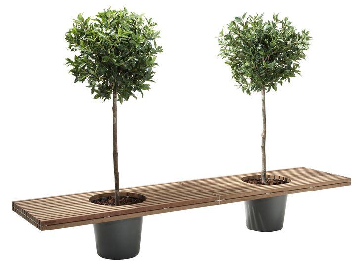 Romeo & Juliet Bench - With 2 flower pots - L 320 cm