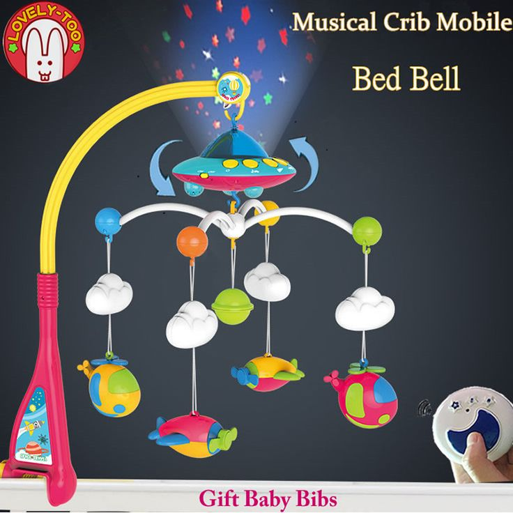 LovelyToo Baby Toys 0-12 Months Animal Musical Bed Bell Crib Mobile Hanging Rattles Newborn Early Learning Kids Toy