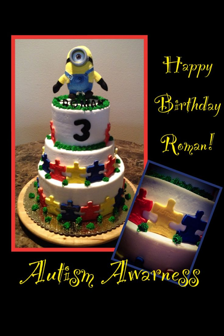 Cake Decorated By Girl With Autism : 1000+ images about Autism on Pinterest Resin crafts ...