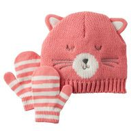 Cat Hat & Mitten Set