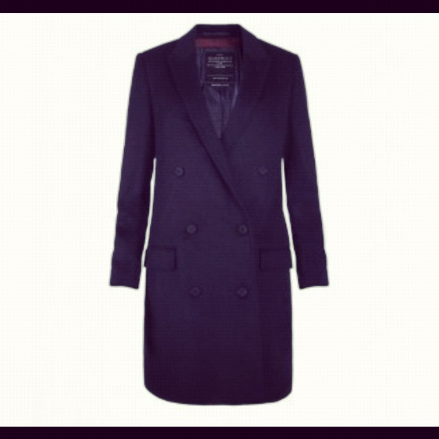 Black Wool Trench