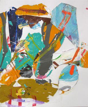 """Saatchi Art Artist robert tavani; Collage, """"Ochre Poker"""" #art"""