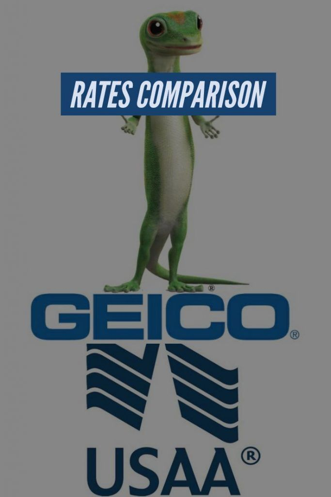 Usaa And Geico Rates Comparison Carinsurance Cars Insurance