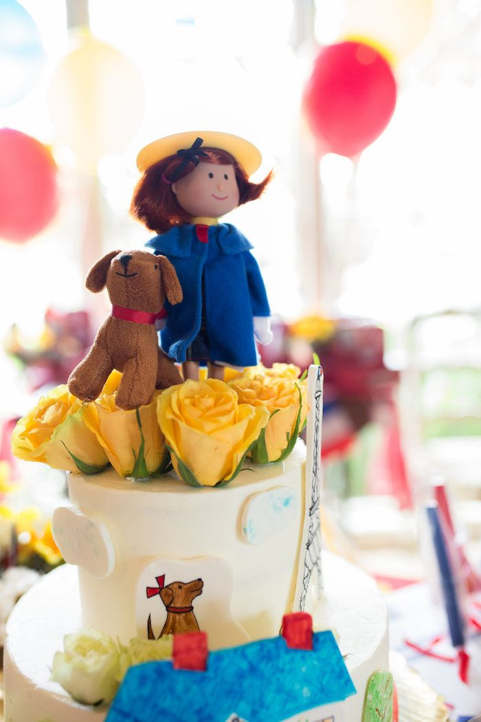 Madeline and dog cake topper from a Madeline in Paris Birthday Party on Kara's Party Ideas   KarasPartyIdeas.com (8) #madelineinparis #karaspartyideas #kidspartyideas #parisparty #girlparty