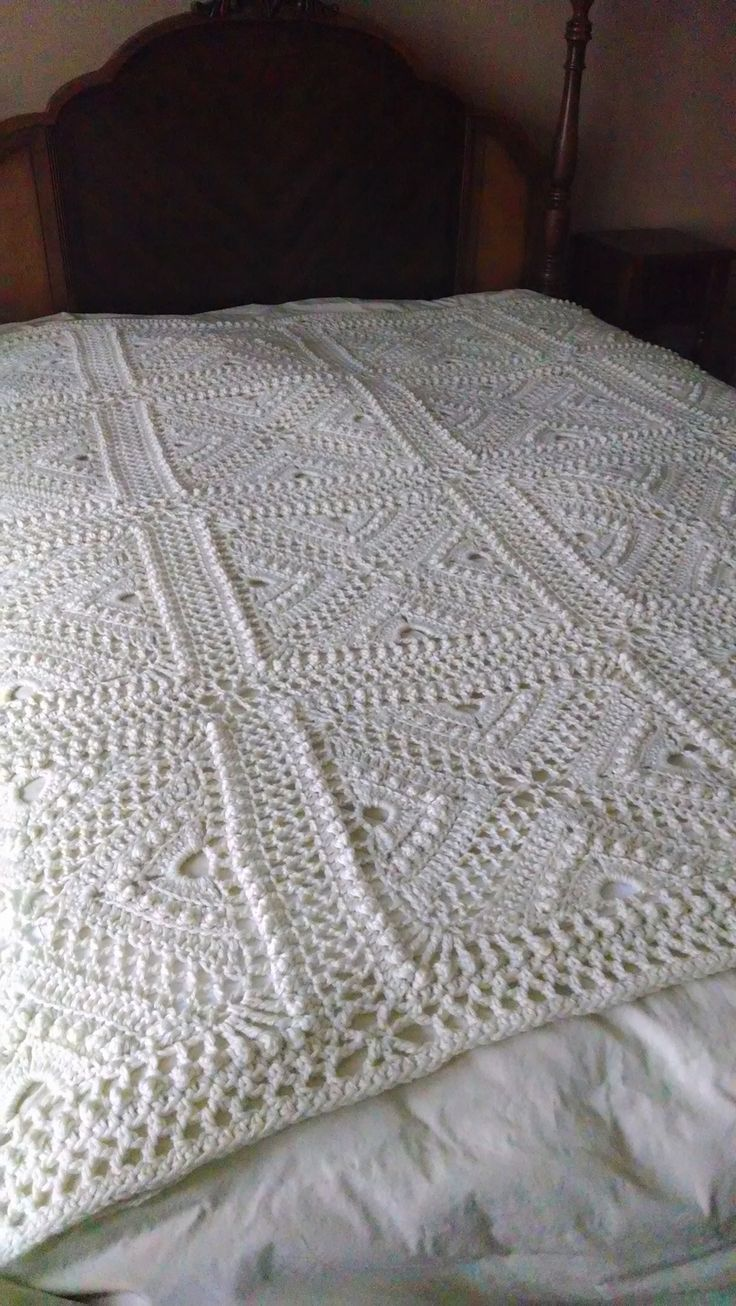 Bee Hives And Clover Afghan Block Pattern By Joyce D