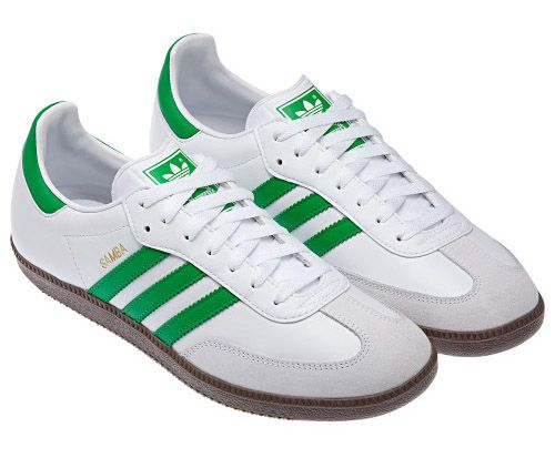 adidas samba white and green
