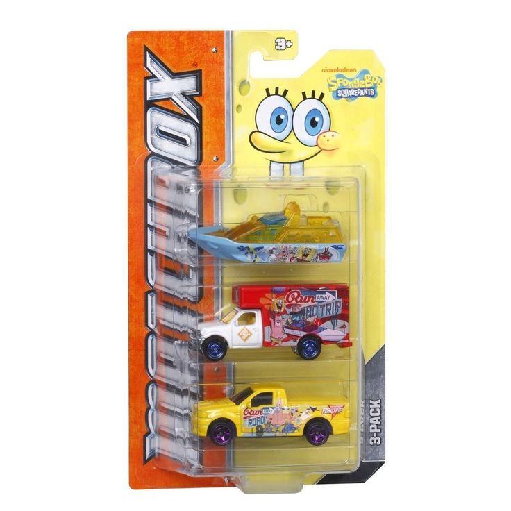 Matchbox Nickelodeon Spongebob Squarepants 3 Pk New/Sealed (Y2971) Retired 2012 #Matchbox