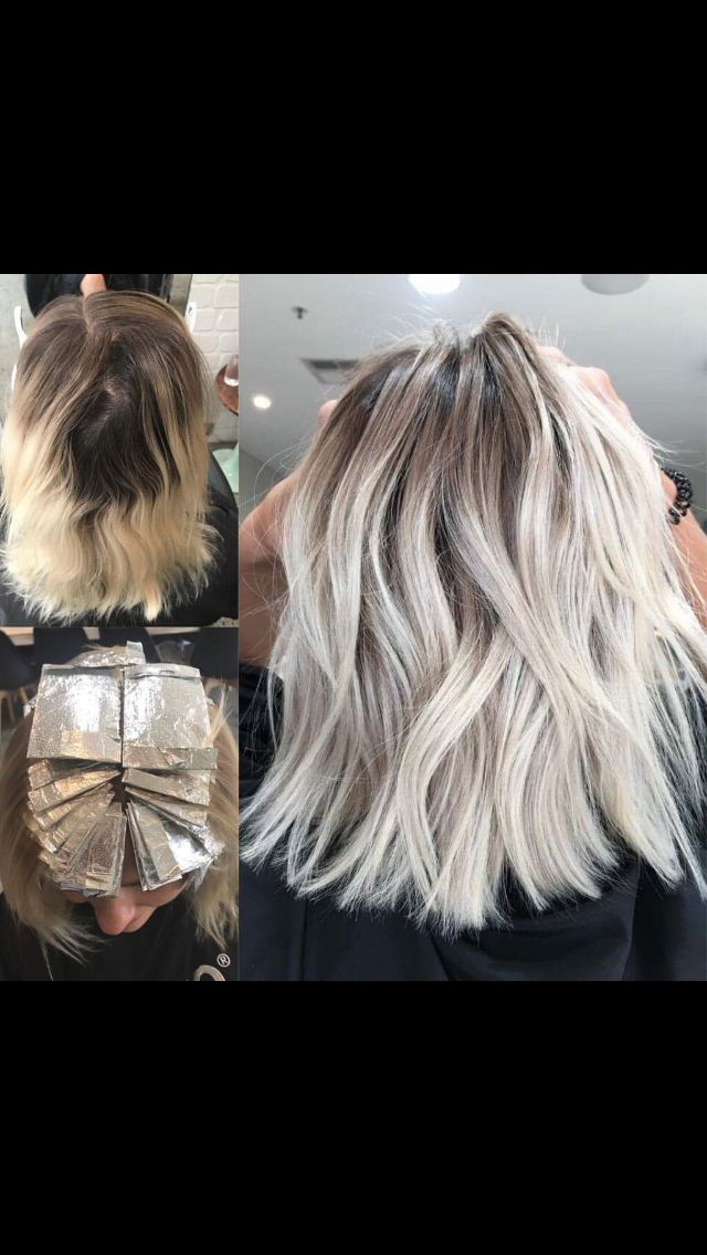 It doesn't get any better than this platinum blonde root stretch by Studio B Hair Colourists in Sydney Australia - PERFECT