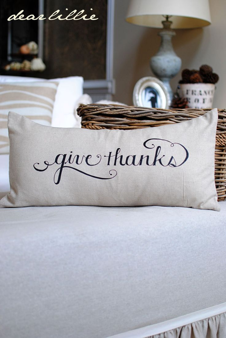 pillow idea for this Thanksgiving #Thanksgiving #pillow