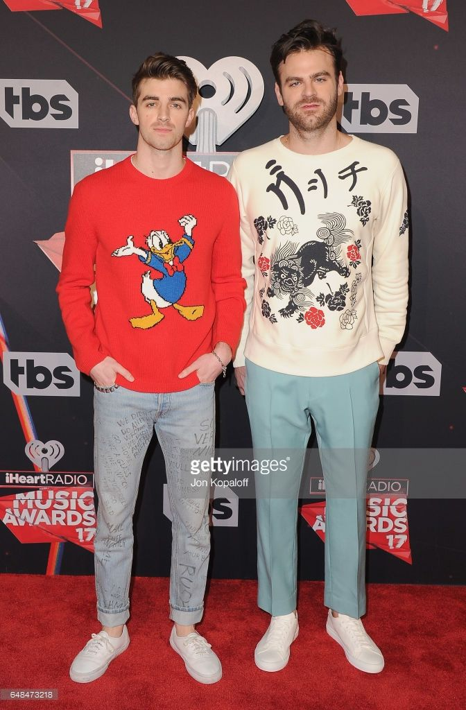 The Chainsmokers arrive at the 2017 iHeartRadio Music Awards at The Forum on March 5, 2017 in Inglewood, California.