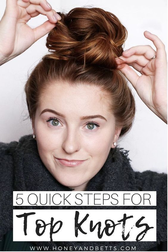 Hannah, from the Edmonton lifestyle blog Honey & Betts, is sharing the ultimate 5 steps to the perfect top knot for medium to long hair! Check out how to create the easy, messy bun that is cute with everything! via @honeyandbetts