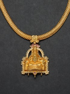 Golden Lord Balaji necklace