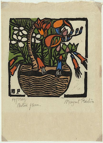 Margaret Preston - Basket of Australian Wildflowers