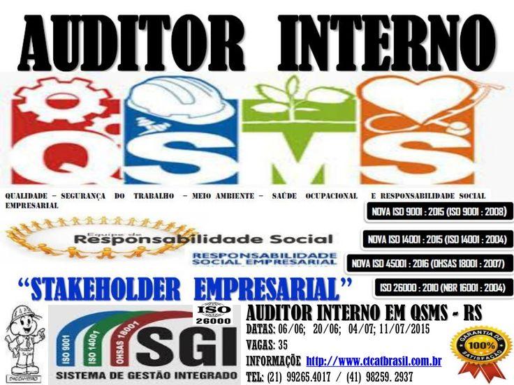 Curso Auditor Interno em QSMS - RS by Karlos Ribas via slideshare