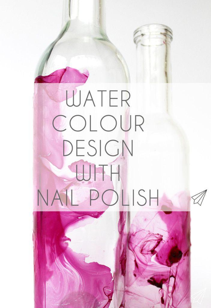 Wie mache ich: Aquarell-Design mit Nagellack – Getting Crafty !