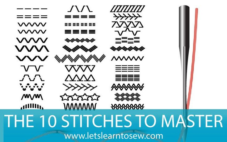 Let's learn to sewThe 10 stitches every seamstress should master