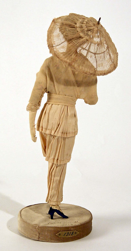 Doll  Lafitte Desirat  (French)  Date: 1911–16 Culture: French Medium: [no medium available] Dimensions: Height: 12 in. (30.5 cm) Credit Line: Gift of Claras, 1972 Accession Number: 1972.154.8