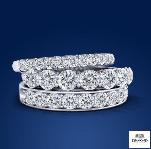 18K White Gold Diamond eternity bands | Diamond Corporation South Africa