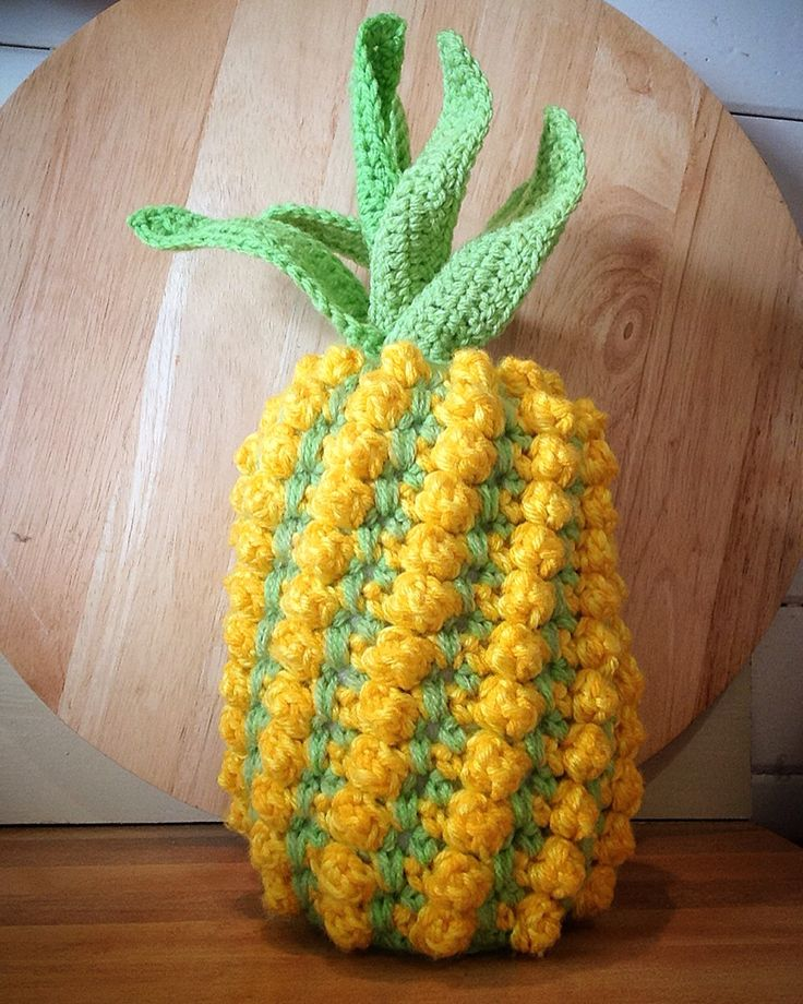 My finished crochet pineapple I bought the pattern here https://www.etsy.com/au/listing/294666231/crochet-pineapple-pattern-instant