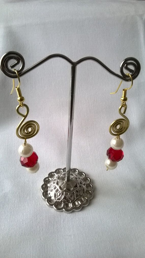 Handmade wire and bead necklace and earring set  Handcrafted unique wire jewellery set for that special occasion. Can be worn as a set or each