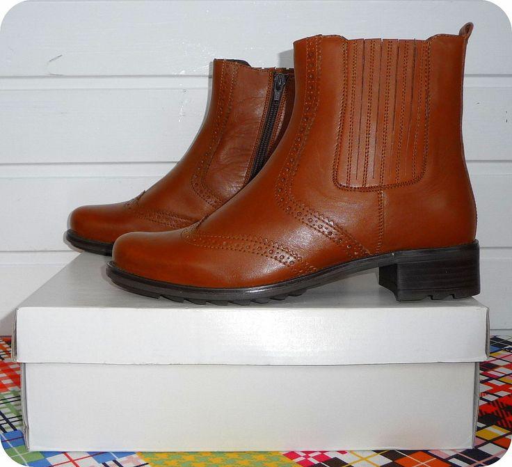 STUDIO W Stiefeletten Leder Stiefel 37 Leather Chelsea Boots Budapester UK 4 in Kleidung & Accessoires, Damenschuhe, Stiefel & Stiefeletten | eBay