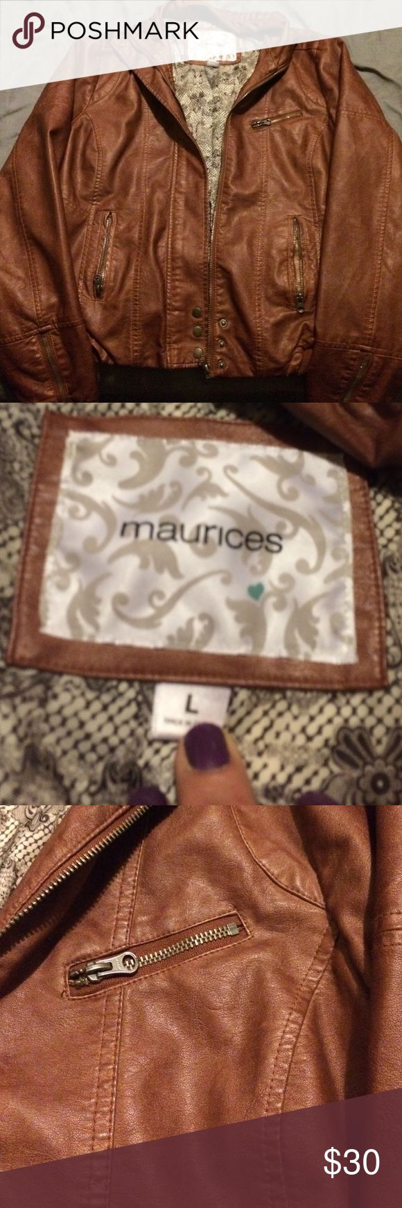 Maurice's Real Leather Jacket NWOT🔹Real leather🔹Perfect condition🔹 🤑 No Trades 🤑 Maurices Jackets & Coats