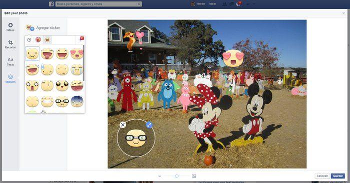 ONE: Facebook ya permite agregar filtros y stickers a las fotos que se subas desde la aplicación web