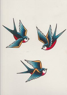 traditional american tattoo swallow - Google Search
