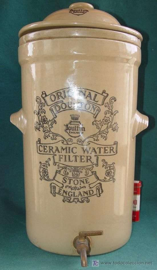 ORIGINAL DOULTON - CERAMIC WATER FILTER - STONE - ENGLAND - SIGLO XIX -  ANTIGUO…
