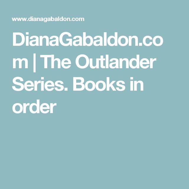 DianaGabaldon.com | The Outlander Series. Books in order
