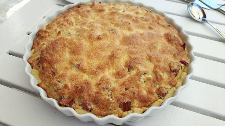 Fransk rabarbertærte