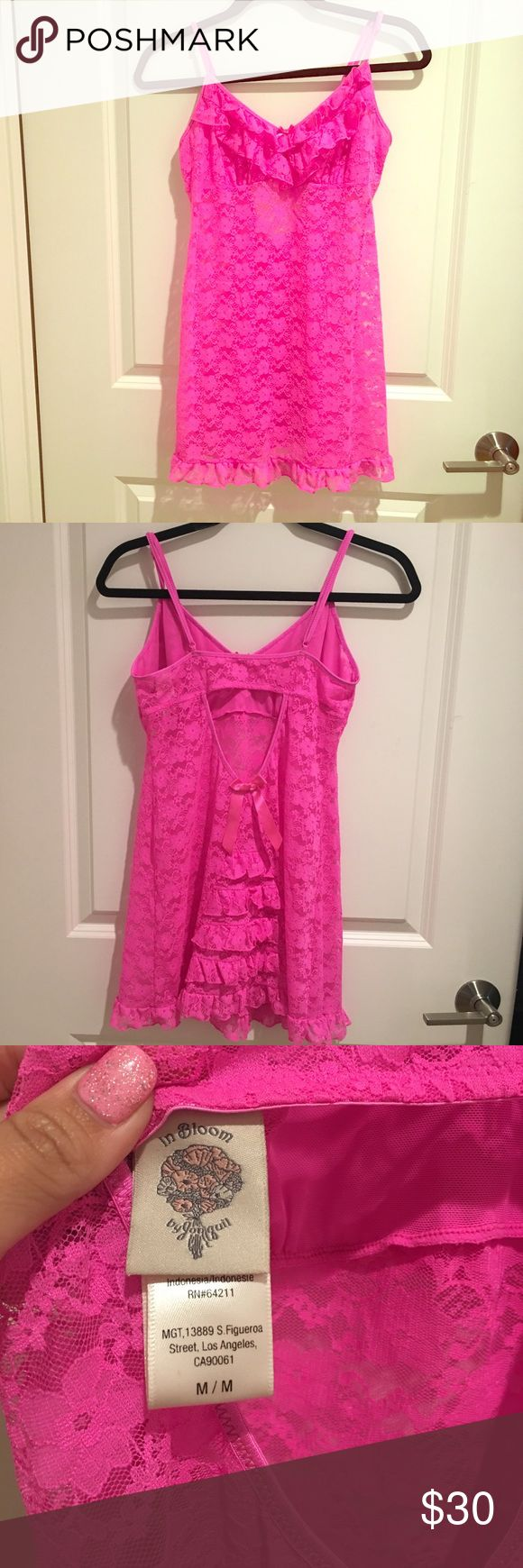 In Bloom Pink Lingerie from Nordstrom 🎈🌈👏 Look Hot and be comfy in In Bloom by Jonquil Garden Party Chemist HOT Pink purchased at Nordstrom Only worn once. 🎈👠🎉👄🔥👯 It's super soft and stretchy! In Bloom Intimates & Sleepwear Chemises & Slips